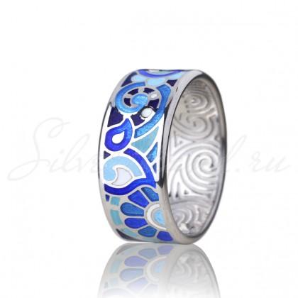 купить кольцо с эмалью из золота и серебра мармелад1101r