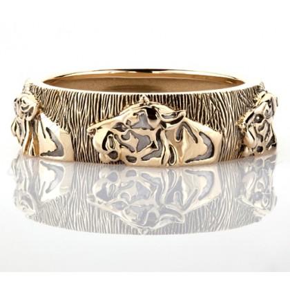 Кольцо Тигры из золота 585