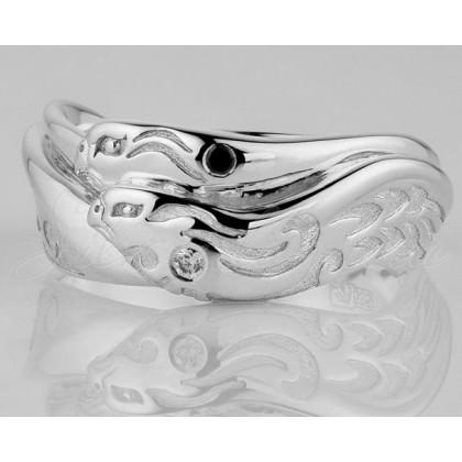 купить обручальное кольцо из серебра Орлы
