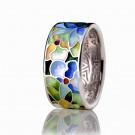 купить кольцо с эмалью из золота и серебра мармелад106r