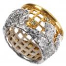 кольцо биверс с хризолитом