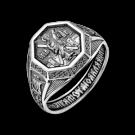 Кольцо охранное из серебра 108.042