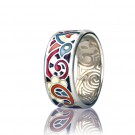 купить кольцо с эмалью из золота и серебра мармелад1103r