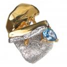 кольцо с топазом 1105