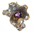 кольцо с аметистом 1108