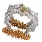 кольцо с хризолитом 1261