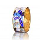 купить кольцо с эмалью из золота и серебра мармелад204r