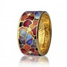 кольцо с эмалью мармелад