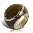 кольцо с эмалью fanes тигровый глаз