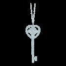 Ornate Heart Key Pendant