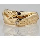 кольцо из золота 585 с орлами